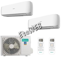Hisense Dual MINI APPLE PIE 2 UI 9000+9000 UE 16000 Climatizzatori a parete 2x AS-09UR4SVETG6 AMW2-16U4SGD1