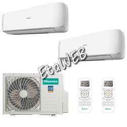 Hisense Dual MINI APPLE PIE 2 UI 9000+12000 UE 20000 Climatizzatori a parete AS-09UR4SVETG6 AS-12UR4SFATG6 AMW2-20U4SZD1