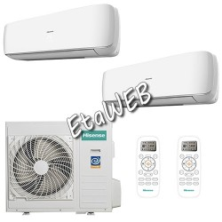 Hisense Dual MINI APPLE PIE 2 UI 12000+12000 UE 24000 Climatizzatori a parete 2x AS-12UR4SFATG6 AMW3-24U4SAD1