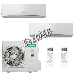Hisense Dual ESSENCE 2 UI 9000+18000 UE 24000 Climatizzatori a parete AS-09UR4SVETE6 AS-18UR4SFATE6 AMW3-24U4SAD1